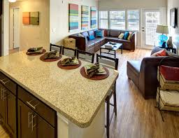 fully furnished living room at campus edge on uta blvd in arlington tx near the