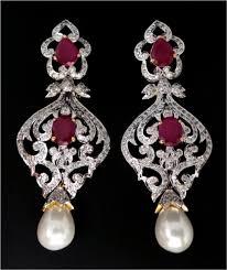 item no kjcedch5247 chandelier earrings india