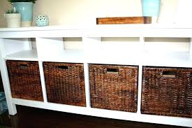 sofa table with baskets tables storage remodel furniture side console59 sofa