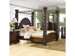 North Shore King Canopy Bed by Millennium at Royal Furniture