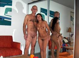 Married couples together in the nude