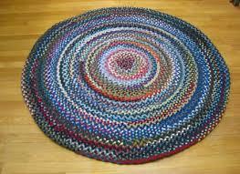 4 039 5 wool round braided rug country braid house