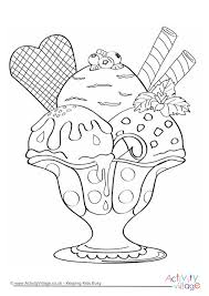 ice cream sundae coloring page. Simple Page Ice Cream Sundae Colouring Page Throughout Coloring