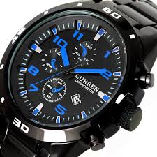 aliexpress com buy vogue date blue black dial stainless steel vogue date blue black dial stainless steel men watch brand watches luxury sport quartz mens wrist