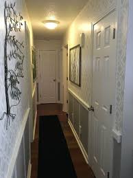 hallway finally. stenciled hallway finally finished wall decor thrift store metal pieces as art n