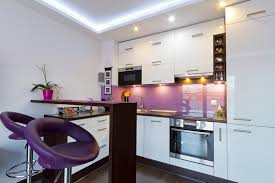 kitchen design purple and white. purple and white theme modern kitchen with bar stools design t