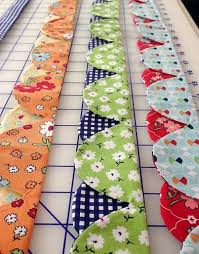 89 best Quilt Binding images on Pinterest | Sewing lessons, Kid ... & #Quilting Add these super cool scallops to your quilts! Check out the how- Adamdwight.com