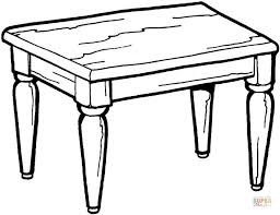 coffee table clipart black and white. pin table clipart colouring page #2 coffee black and white