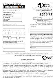 Pin Direct Debit Form On ~ Direct Debit Form