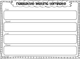 Narrative Story Template Narrative Writing Freebies Little Minds At Work