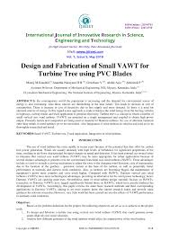 Vertical Axis Wind Turbine Design Pdf Pdf Design And Fabrication Of Small Vawt For Turbine Tree