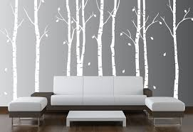 birch tree wall decal 1263 forest jpg on white birch tree wall art with large wall birch tree nursery decal forest kids vinyl sticker leaves