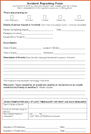 Workplace Incident Report Form Template Accident Nsw Empl