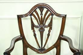 Shield Back Dining Room Chairs In Solid Mahogany Swag Splats - Shield back dining room chairs