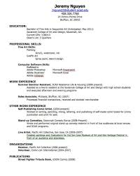 How To Make Resume For First Job High Template Striking Elementary