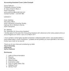 Job Application Letter For Accountant Assistant Sample Cover