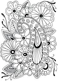 Flower Coloring Pages Large Flower Coloring Pages Big Simple Pattern