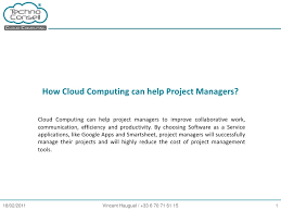 How Cloud Computing Can Help Project Managers