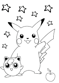 Pikachu Coloring Pages Printable Coloring Design