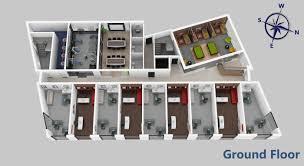 Office Design Plan 3d Office 3d Floor Plan Gnet 3d