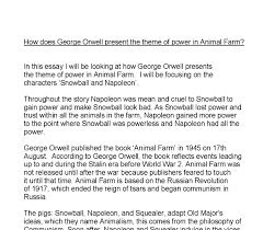 how does george orwell present power in animal farm gcse english document image preview