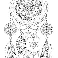 Books About Dream Catchers Dreamcatcher coloring pages Adult coloring book printable 38