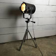 Vintage Retro Theatre Spot Light Tripod Floor Lamp Retro Theatre Stage Spotlight Converted Floor Lamp