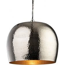 assam large single light ceiling pendant with nickel and matt brass finishes