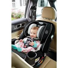 graco 4ever extend2fit all in one convertible car seat clove black white