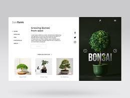 Bonsai Web Design Web Design For Jonifarm Bonsai Specialist By Alfi Achmad On