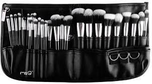 msq 29 pcs full set makeup brush professional makeup artist multifunctional waist bag makeup brush set of beauty tools