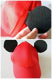 the first step is to add the mickey mouse ears to the hat you could probably just eyeball the ear size but i avoid reinventing the wheel if possible