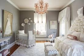 french nursery with corner crib