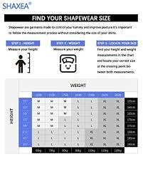 Roc Bodywear Size Chart Shaxea Compression Shirt For Men Tummy Control And Gynecomastia Slimming Body Shaper M White