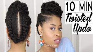 Black Hair Style Images the 10 minute twisted updo natural hairstyle youtube 5640 by wearticles.com