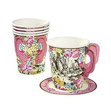 Decorating With Teacups And Saucers Amazon Kids Birthday Party Supplies Decorations Paper Cups 31