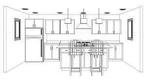 interior design kitchen drawings. Contemporary Interior Kitchen Layout Design Ideas And Decor Intended Interior Drawings O