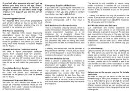 Carers Leaflet Pharmacy Services
