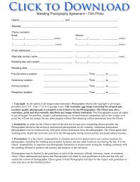 Photography Portrait Agreement Photoshoot Agreement Template Free