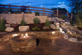 Backyard Retaining Wall Designs Enchanting Outdoor Living Area Kitchen Fire Pit Paver Patio Hardscape Contractor