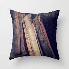 old books throw pillow leather book pillow decorative pillow vine book decor library decor antique books dorm pillow office home