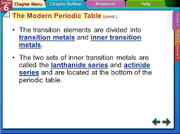 Section 6-1 Section 6.1 Development of the Modern Periodic Table ...