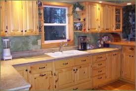 White Kitchen Dresser Unit Furniture Knotty Pine Kitchen Cabinet And White Drop In Sink With