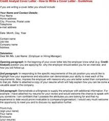 Cover Letter Credit Analyst Cover Letter Sample Credit Analyst