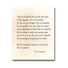 She Was Beautiful Quote F Scott Fitzgerald Book Best Of Art Inspired By Beauty Of The Ordinary Moments She Was Beautiful