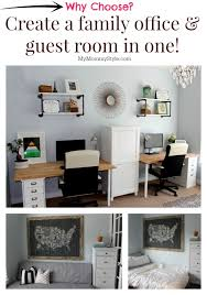 home office and guest room. a family office and guest room in one home that functions as i