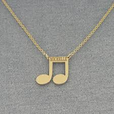 solid gold personalized laser name engraved note disc charm necklace jewelry gc28c