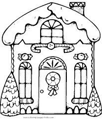 Gingerbread House Color Page Christmas Coloring Pages Holiday