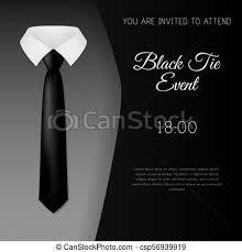 Elegant Black Tie Event Invitation Template Eps10 Vector