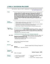 Resume Template Registered Nurse Musiccityspiritsandcocktail Com